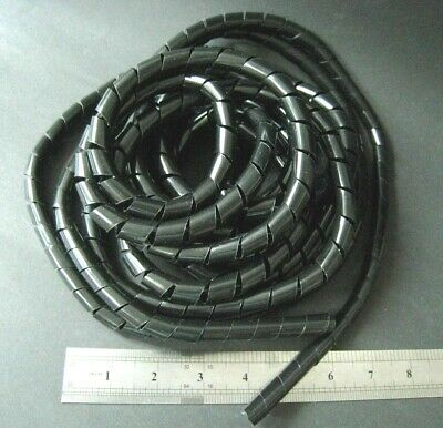 5M 16Ft SWB-4W Transparent Spiral Wrapping Band 4mm Cable Wire Organizer #gtc
