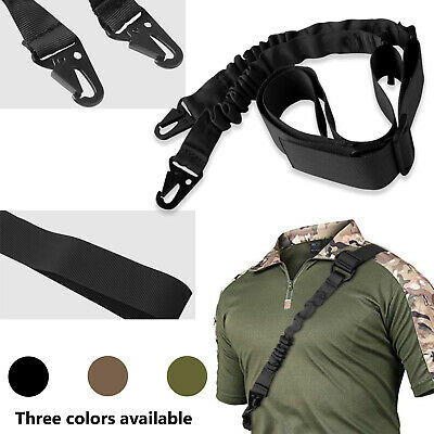 Tactical 2 Point/one Single Point Rifle Gun Sling Strap Hook Hunting Adjust Belt
