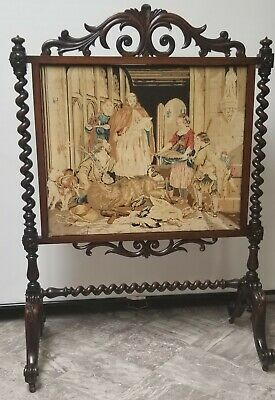 French Tapestry Fireplace Screen 19th Century