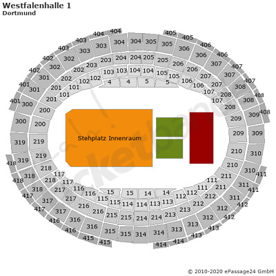 Tenacious D Dortmund Tickets 22.02. Front of Stage Jack Black Kyle Gass