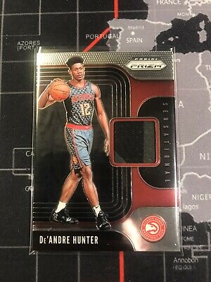 Deandre Hunter 2019-20 Panini Prizm Basketball Sensational Swatches RC Jersey