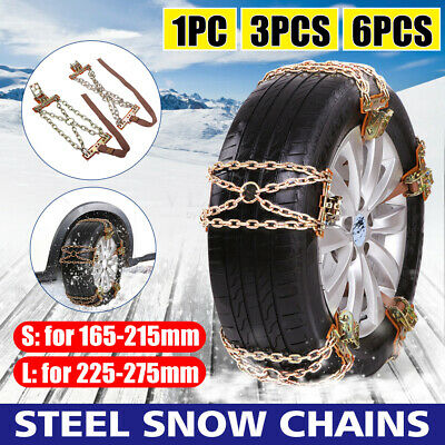 Universal 1/3/6PCS Car Anti-skid Snow Chain Tyre Tire Wheel For Truck Offroad