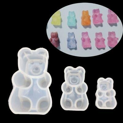 3D Gummy Bear Candy Silicone Resin Mold Cake Chocolate Fondant Jewelry Pendant