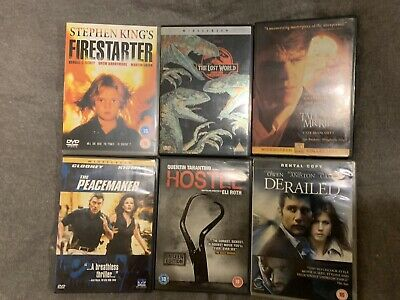 Job Lot Of X6 Dvds Ages Pg 15-18 Years, No Reserve!  *LOOK* Reduced!