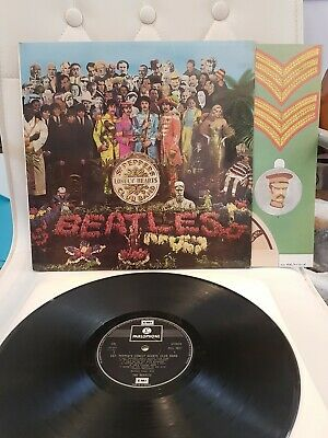 Pcs 7027 Beatles Sgt Peppers Lp With Insert Near Mint 1967