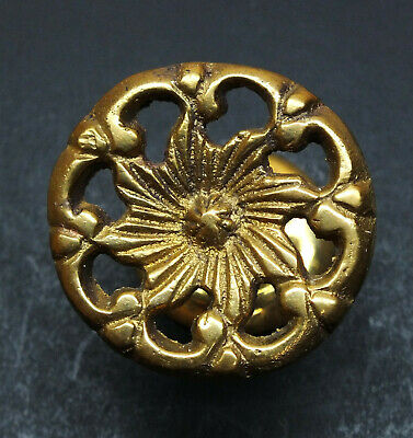 Antique Style Victorian Drawer Pull, Solid Brass Knob, NOS