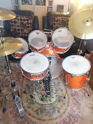 Mapex pro m 6 piece drum kit with all cymbals, hardware and 4 cases.