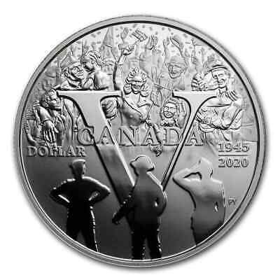 Juno Beach 1944-2019 D-Day 75th Anniversary Proof Pure Silver Dollar $1 Canada