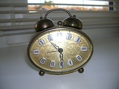 Vintage Goldbuhl Filigree Travelling Alarm Clock 1950/60s made in west germany.