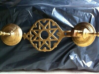 Rare Antique Vintage Heavy Solid Brass Large 11 Inches By 5 Inches Wide