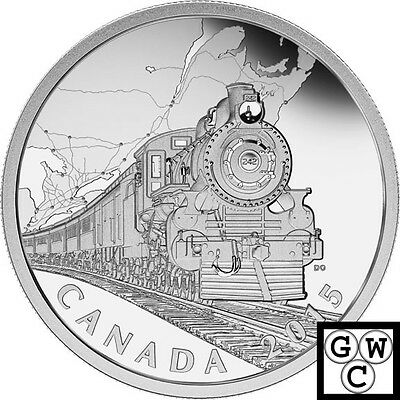 2015 Transcontinental RR-CDN Home Front' Prf $20 Silver Coin 1oz .9999(16996)NT