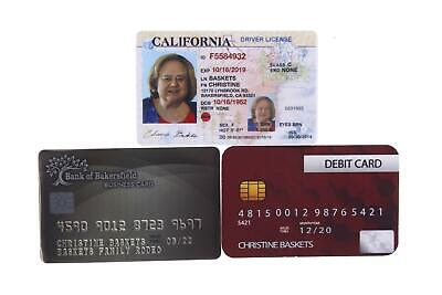 Baskets Christine Louie Anderson Screen Used Driver's License & Card Set