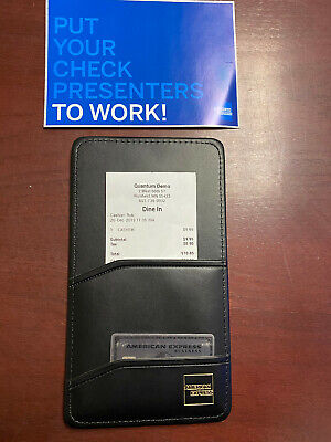 ****FREE SHIPPING**** Brand New 25 Single Panel AMEX Check Presenters Black