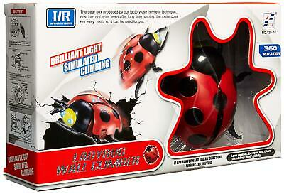 Ladybug Wall Climbing Toy for Boys and Girls - Remote Control Stunt Toy Moves on