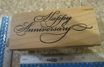 Happy Anniversary Mw Rubber Stamp -Great Impressions