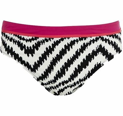 LADIES RUCHED BIKINI BRIEF O Beach Montego Bay UK 8 NEW