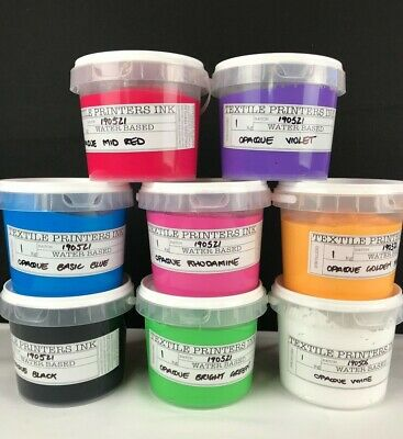 Publisher Textiles Printers Ink Screen Printing OPAQUE Water Based Ink 1L, 4L