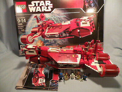 Lego Star Wars Republic Cruiser 7665 (2007) Loose with box/instructions