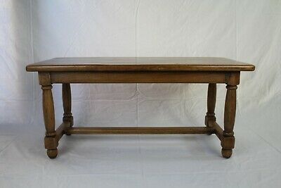 Antique Solid Oak Coffee Table Arts & Crafts Country Rustic