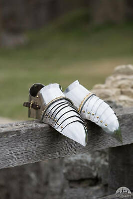 Coleccionable Medieval Acero Shoes-Medieval Costume-Gothic Knight Armor Zapatos