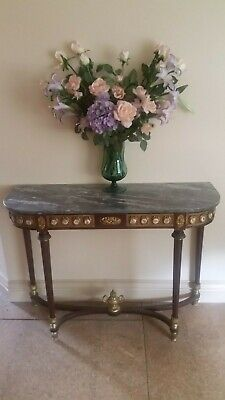 Antique Hall Stand or side table with Marble top