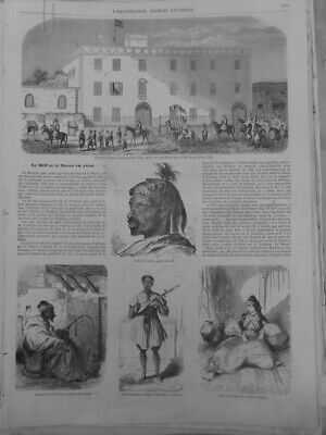 1852 1894 Morocco Riff Pirate Musicians 4 Newspapers