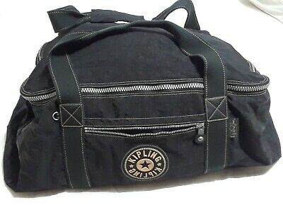 """Kipling Black Extra Large XL Quality Duffle Bag Hefty Zippers and Hardware 26"""""""