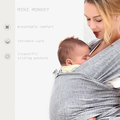 Infant Baby Adjustable Wrap Toddler Newborn Cotton Sling Stretchy Carrier Gift