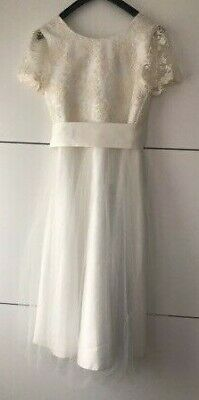 John Lewis Girls' Floral Lace Bridesmaid Dress /  Ivory 12 Years New With Defect