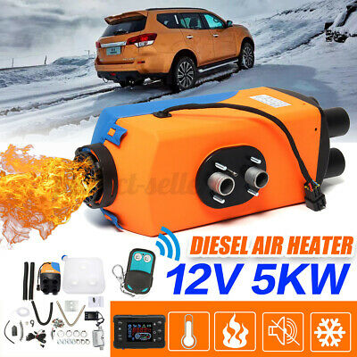 12V 5000W Air Diesel Heater LCD Display 1KW-5KW Remote For Car Truck Motor-Home