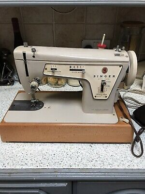 Electric Vintage Singer Model 237 Fashion Mate Sewing Machine  Case Pedal