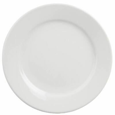 28 X Athena Hotelware Wide Rimmed Dinner Plates