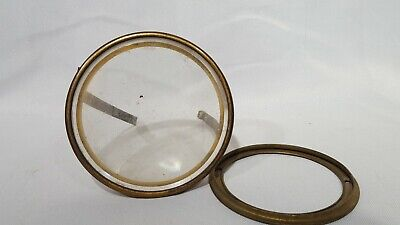 Antique French Clock Bezel-Glass And Rear Ring