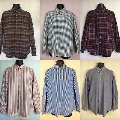 Ralph Lauren Shirts, Long Sleeve, Check Stripe, Various Styles & Sizes, M, L, XL