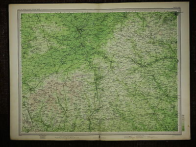 1903 Map ~ Cambridge Royston Baldock Hertford Bishops Strotford & Villages