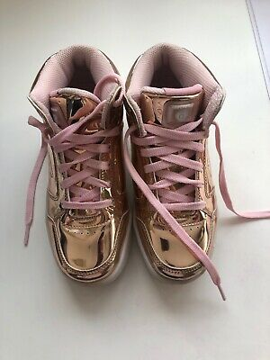 girls sketchers size Uk1 Rose Gold Energy Light Up Trainers