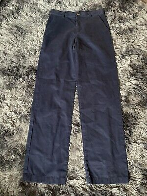 Boys Age 16 Ralph Lauren Polo Chino Trousers Navy Blue Straight Leg
