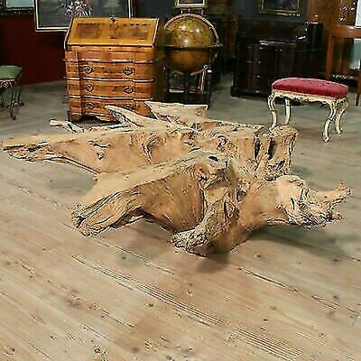 Base table wood root mangrove sculpture indonesian decoration style antique 900