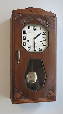 French Art Deco Westminster chime wall clock