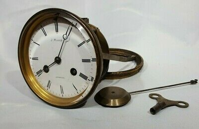 French Clock Striking Movement+ Pendulum Working Order J Mayer Liverpool