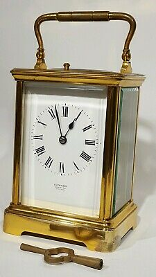 Antique French Repeater Striking Carriage Clock Edwards Glasgow