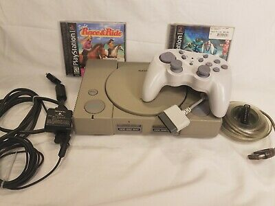 Sony Playstation 1 PS1 Gray Original Console/System Bundle w/2 Games SCPH-7501 C