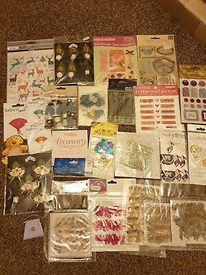 Selection Of Card Making Embellishments & Stickers