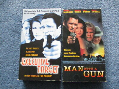 Man With a Gun VHS Executive Target 2 tape Michael Madsen Gary Busey Keith David