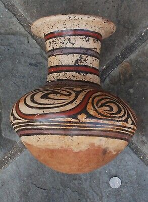 Pre-Columbian ~ COCLE ~ Pre-Colombian Polychrome Long-Necked VESSEL ~ Panama ~NR