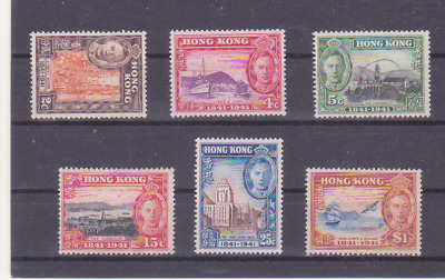 HONG KONG 1941 Centenary of British Occupation (SG 163-168) F MH