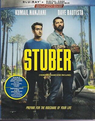 STUBER BLURAY & DIGITAL SET with Dave Bautista & Kumail Nanjiani & Karen Gillan