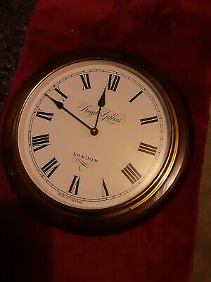 Knight Gibbins 19th Century Style pine Framed Clock Brass Trim London Lovely...