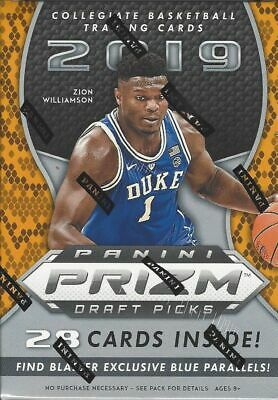 2019/20 Panini Prizm Draft Picks Basketball Blaster Box Zion Williamson? MORANT?