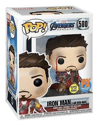 Funko Pop Avengers Endgame Ironman (I Am Ironman) GITD Snap Snapping Preorder